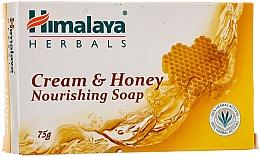 Perfumería y cosmética Jabón sólido cremoso hipoalergénico con cera alba - Himalaya Herbals Cream Honey Soap