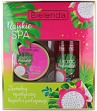 Perfumería y cosmética Set corporal - Bielenda Exotic Paradise Pitaja (exfoliante/350g + aceite/400ml)