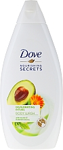 Perfumería y cosmética Gel de ducha con aceite de aguacate y extracto de caléndula - Dove Nourishing Secrets Invigorating Shower Gel