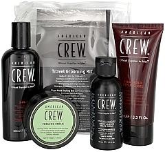 Perfumería y cosmética Set - American Crew Travel Grooming Kit (gel/100 ml + crema/50 g + gel/100 ml+ crema de afeitado/50 ml)