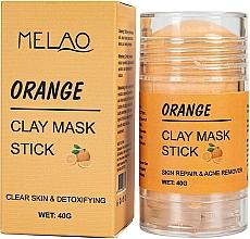 Perfumería y cosmética Mascarilla stick facial detox con arcilla, Naranja - Melao Orange Clay Mask Stick