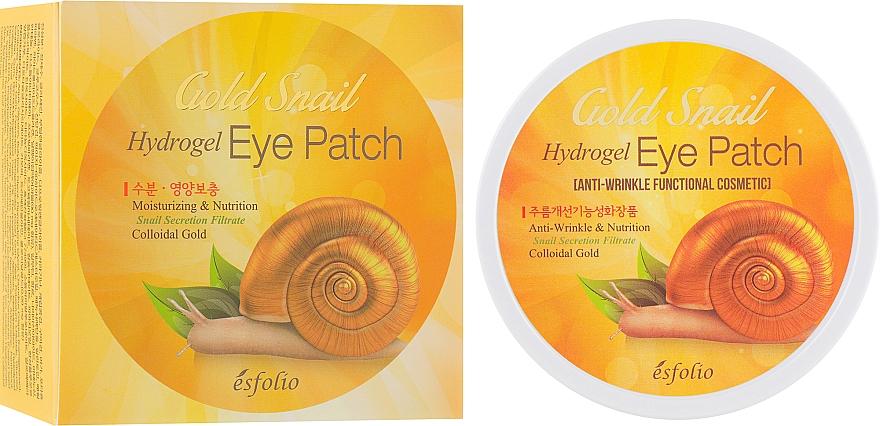 Parches para contorno de ojos de hidrogel con baba de caracol y oro coloidal - Esfolio Gold Snail Hydrogel Eye Patch