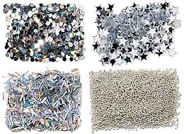 Perfumería y cosmética Set decoraciones de uñas - Peggy Sage Nail Glitter Mini Kit Argent