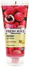 Perfumería y cosmética Exfoliante corporal con lichi & jengibre - Fresh Juice Litchi & Ginger