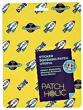 Perfumería y cosmética Parches calmantes para rostro y cuerpo con té verde y aloe - Patch Holic Sticker Soothing Patch Utopia