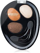 Perfumería y cosmética Sombras de ojos, alta pigmentación - Deborah Hi-Tech Eye Shadow Trio