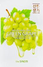 Perfumería y cosmética Mascaarilla facial de tejido con extracto de uva verde - The Saem Natural Green Grape Mask Sheet