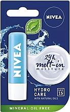 Perfumería y cosmética Bálsamo labial con aceites naturales SPF 15 - Nivea Lip Care Hydro Care Lip Balm