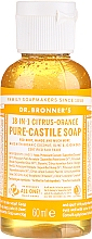 Perfumería y cosmética Jabón líquido orgánico de coco, oliva y jojoba con cítricos y naranja - Dr. Bronner's 18-in-1 Pure Castile Soap Citrus & Orange