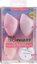 Perfumería y cosmética Real Techniques Summer Haze Blend & Glow Kit 4187 - Set esponjas de maquillaje (limpiador sólido/30g + esponja/3uds.)
