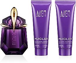 Perfumería y cosmética Mugler Alien - Set (edp/30ml + loción corporal/50ml + gel de ducha/50ml)