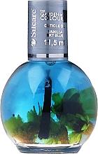 Perfumería y cosmética Aceite de uñas y cutículas de almendra y melocotón - Silcare The Garden Of Colour Vanilla Sky Blue