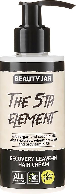 Crema reparadora de cabello con aceite de argán y coco sin aclarado - Beauty Jar Recovery Leave-In Hair Cream