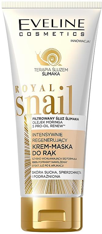 Crema mascarilla de manos intensiva con baba de caracol para pieles secas - Eveline Cosmetics Royal Snai