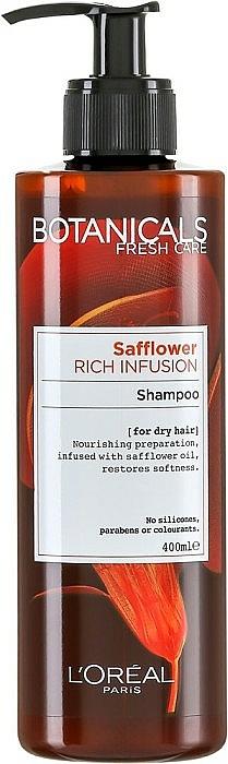 Champú nutritivo con aceite de azafrán - L'Oreal Paris Botanicals Safflower Rich Infusion Shampoo — imagen N2