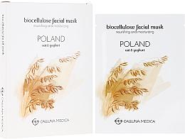 Perfumería y cosmética Mascarilla facial nutritivo e hidratante de biocelulosa - Calluna Medica Poland Nourishing And Moisturizing Biocellulose Facial Mask