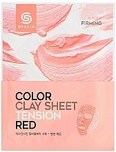Perfumería y cosmética Mascarilla facial de arcilla con extracto de arándano - G9Skin Color Clay Sheet Tension Red