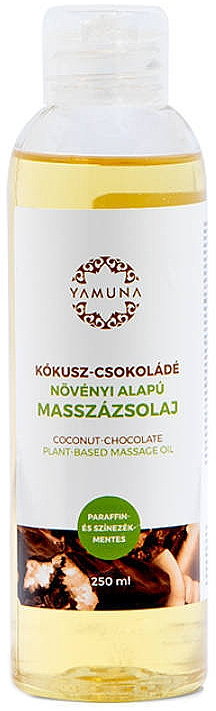 Aceite de masaje con aroma a chocolate y coco - Yamuna Coconut-Chocolate Plant Based Massage Oil