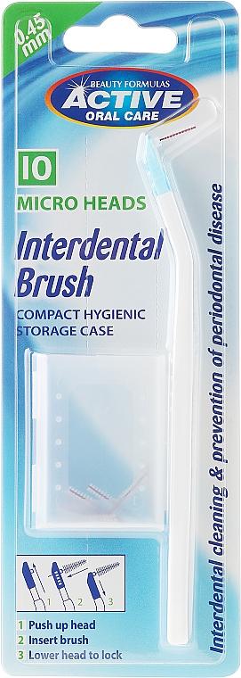 Cepillo interdental con 10 micro cabezales de repuesto - Beauty Formulas Interdent Brush with 10 Micro Heads — imagen N1