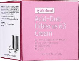 Perfumería y cosmética Crema facial con extracto de hibisco y ácido salicílico - By Wishtrend Acid-Duo Hibiscus 63 Cream