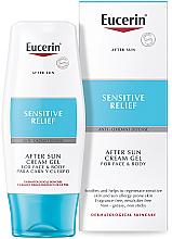 Perfumería y cosmética Crema after sun para rostro y cuerpo - Eucerin After Sun Creme-Gel for Sensitive Relief