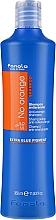 Perfumería y cosmética Champú antianaranjado hipoalergénico con aceite de coco - Fanola No Orange Extra Blue Pigment Shampoo