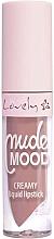 Perfumería y cosmética Labial líquido - Lovely Nude Mood Creamy Liquid Lipstick