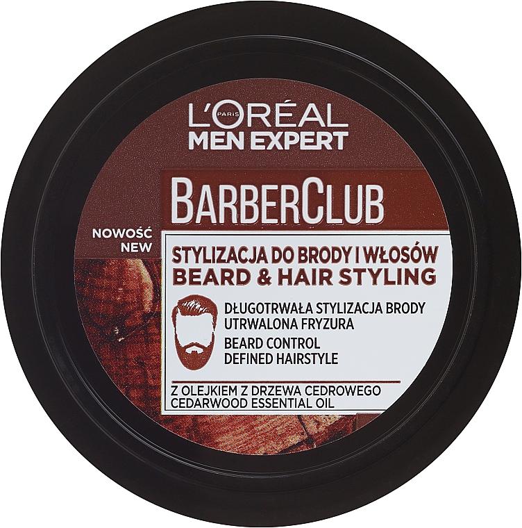 Crema moldeadora para cabello y barba con fijación ligera - L'Oreal Paris Men Expert Barber Club
