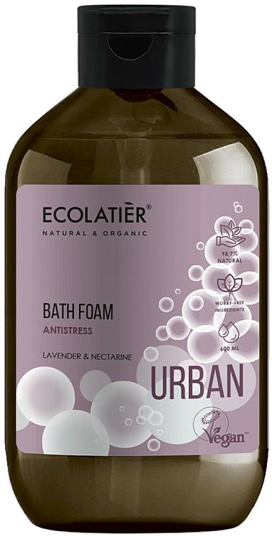 Espuma de baño antiestrés con extractos de lavanda y nectarina blanca - Ecolatier Urban Bath Foam
