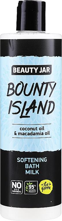 Leche de baño con aceites de coco y macadamia - Beauty Jar Bounty Island Softening Bath Milk