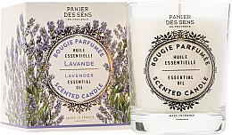 Perfumería y cosmética Vela aromática con aceite esencial de lavanda - Panier Des Sens Decorative Scented Candle In Lavender Glass