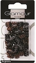 Perfumería y cosmética Pinzas de pelo, 0222, negro-marrón - Glamour