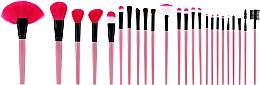 Perfumería y cosmética Set profesional de brochas y pinceles de maquillaje, rosa, 24uds. - Tools For Beauty