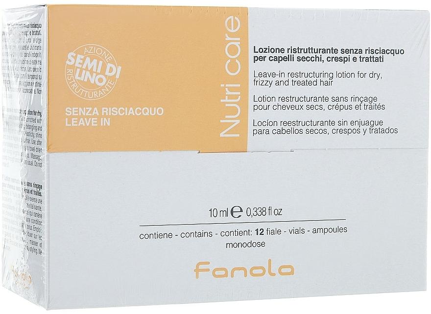 Ampollas reestructurantes sin aclarado para cabello seco y tratado - Fanola Leave-In Restructuring Lotion