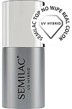 Perfumería y cosmética Top coat híbrido, sin capa pegajosa - Semilac Top No Wipe Real Color