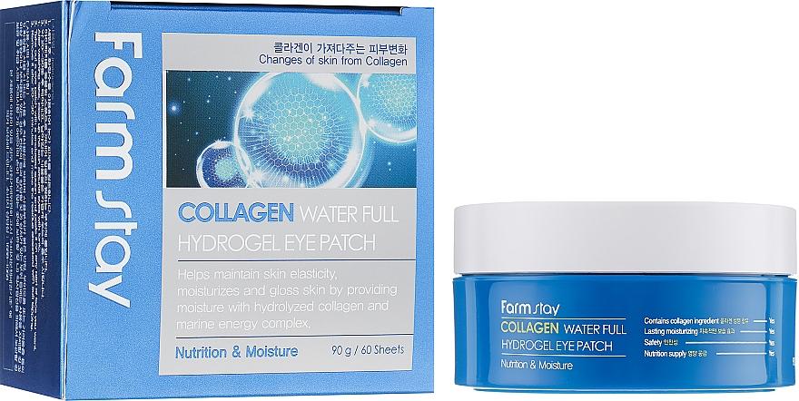 Parches para contorno de ojos de hidrogel con colágeno - FarmStay Water Full Hydrogel Eye Patch