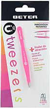 Perfumería y cosmética Pinza de depilar punta oblicua, rosa - Beter
