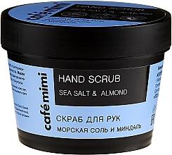 Perfumería y cosmética Exfoliante de manos con sal marina y aceite de almendras dulces - Cafe Mimi Hand Scrub