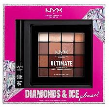 Perfumería y cosmética Set de maquillaje - NYX Professional Makeup Diamonds & Ice Please Shadow & Liner Set (paleta/16x1.18g+delineador/2ml)