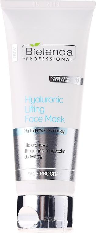 Mascarilla facial lifting con ácido hialurónico y vitamina E - Bielenda Professional Hydra-Hyal Injection Hyaluronic Lifting Face Mask