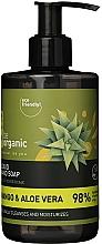 Perfumería y cosmética Jabón de manos líquido con extracto de mango y jugo de aloe vera - Be Organic Liquid Hand Soap Mango & Aloes