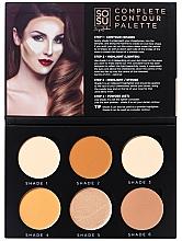 Perfumería y cosmética Paleta de maquillaje - Sosu by SJ Magnetic Refillable Complete Contour Palette