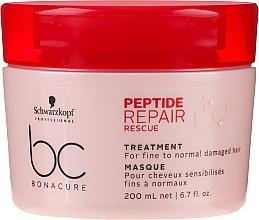 Perfumería y cosmética Mascarilla capilar con queratina y ácido citrico - Schwarzkopf Professional BC Bonacure Peptide Repair Rescue Treatment Mask