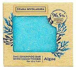 Perfumería y cosmética Champú acondicionador sólido 2en1 con extracto de algas - Stara Mydlarnia Algae 2in1 Shampoo Bar