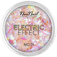 Perfumería y cosmética Brillo para decoración de uñas efecto hojuelas eléctricas - NeoNail Professional Electric Effect Flakes