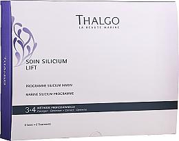 Perfumería y cosmética Set de cuidado facial con silicio de uso profesional - Thalgo Marine Silicium Programme (sérum/6x3ml + relleno hialurónico/6x2ml + mascarilla/6x100g + mascarilla/6uds. + sérum/6x10ml)