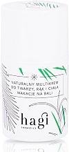 Perfumería y cosmética Crema nutritiva para rostro, manos y cuerpo con aceites de fresa, café verde, cáñamo - Hagi