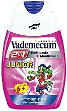 Perfumería y cosmética Pasta dental + enjuague 2 en 1 con sabor a fresa - Vademecum Junior 2in1 Toothpaste + Mouthwash