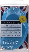 Perfumería y cosmética Cepillo desenredante para cabello grueso y rebelde, azul - Tangle Teezer Thick & Curly Azure Blue