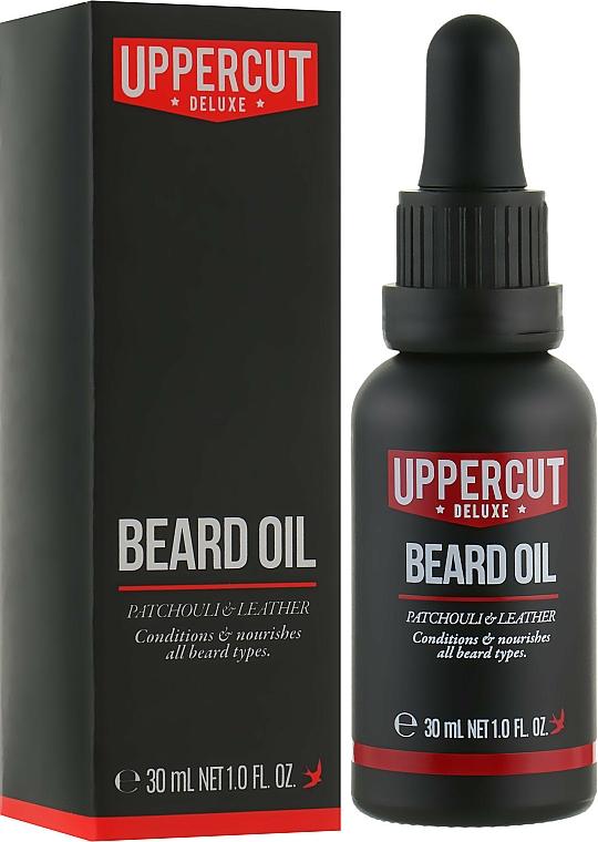 Aceite de barba con aroma a pachulí - Uppercut Deluxe Beard Oil